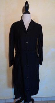 Robe coton noir 50's T.40