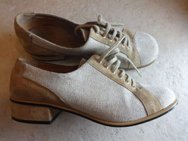 Chaussures cuir et toile 60's P.37