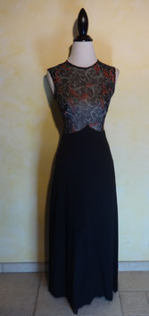 Robe cocktail noire 70's T.36