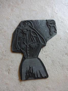 Plaque de gravure illustration chemisiers 50's