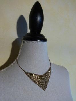 Collier plastron maille
