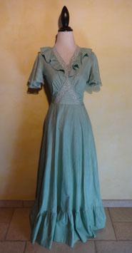 Longue robe verte 70's T.36