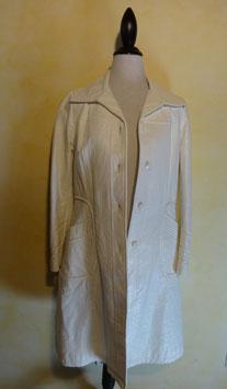 Manteau vinyl blanc 60's T.40