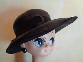 Chapeau paille noire