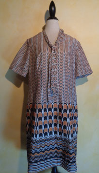 Robe col cravate 70's T.44