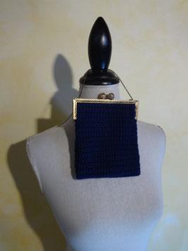 Pochette crochet bleu 60's