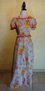 Longue robe fleurie 70's T.36