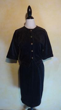 Tailleur velours noir Nina Ricci T.36
