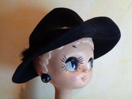 Chapeau à plumes noir