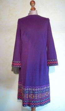 Robe violette laine 70's T.38