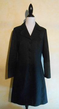 Manteau noir 60's T.36