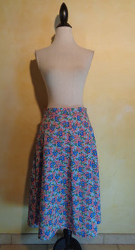 Jupe fleurie 60's T.40