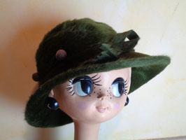 Chapeau feutre de poil vert