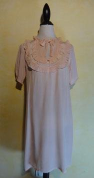 Chemise de nuit soie rose 50's T.40