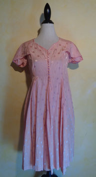 Robe à pois rose 40's T.36