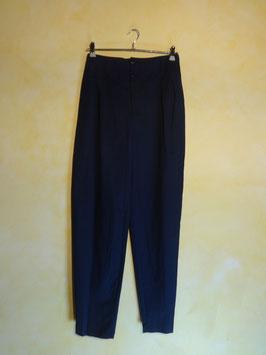 Pantalon carotte bleu 80's T.36