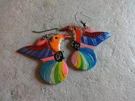 Boucles d'oreille perroquet