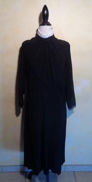 Robe noire drapée 40's T.38