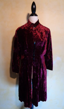 Manteau velours rouge 60's T.40