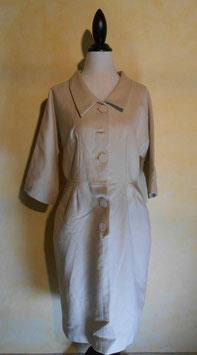 Robe laine beige 50's T.36