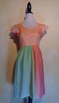 Robe soie multicolore 60's T.34