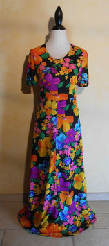 Longue robe power flower 70's T.36