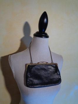 Pochette noire cuir 50's