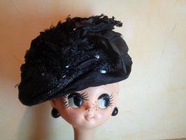 Chapeau plumes et perles 19ème