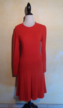 Robe jersey rouge 70's T.38