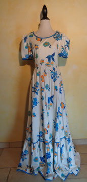 Robe hippie power flower 70's T.40