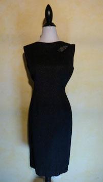 Robe soirée paillettes noire 90's T.40