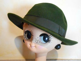 Chapeau feutre vert 70's