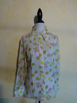 Chemise fruits 60's T.38