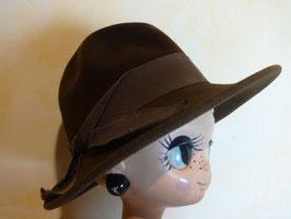 Chapeau feutre marron 50's