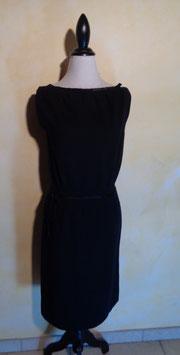 Robe jersey noire 60's T.40
