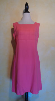Robe chasuble rose 60's T.38