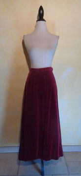 Jupe velours rouge 70's T.38