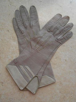 Gants cuir gris 50's