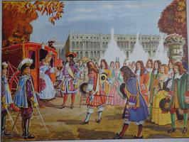 """Affiche scolaire MDI """"Louis XIV à Versailles/la misère au XVII siècle Saint Vincent de Paul"""""""
