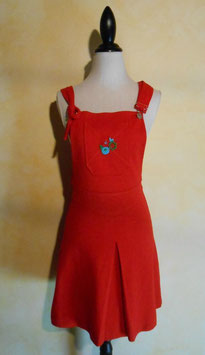Robe salopette rouge 60's T.36