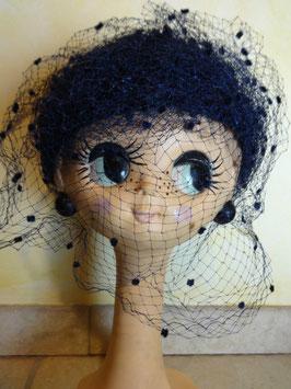 Chapeau bleu violette 50's