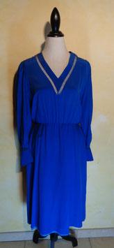 Robe soie bleue 70's T.40