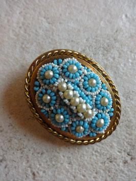 Broche perles 50's