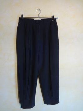 Pantalon plissé noir 80's T.34