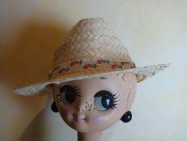 Chapeau ruban fleurs