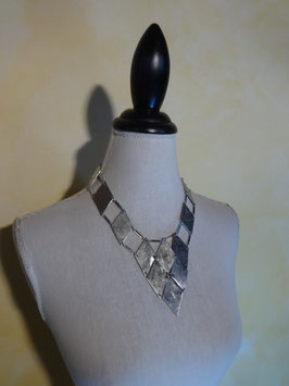 Collier pastron losanges 70's