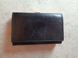 Porte monnaie noir cuir