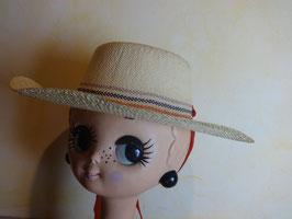 Chapeau paille blanche