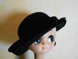 Chapeau laine et velours 50's