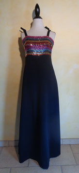 Robe corsage sequins 70's T.40